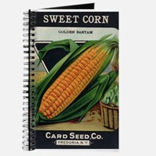 Yellow Corn antique seed pack Journal