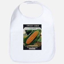 Yellow Corn antique seed pack Bib