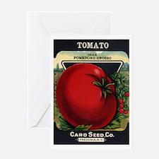 Tomato 1 Pomedoro Grosso Greeting Card