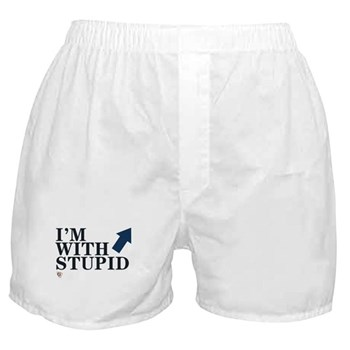 "eSarcasm ""I'm With Stupid"" Boxers"