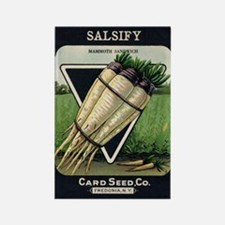 Salsify antique seed packet Rectangle Magnet