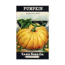 Pumpkin antique seed packet Decal