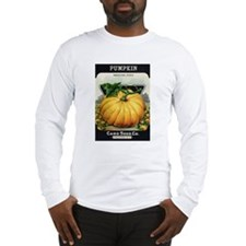 Pumpkin antique seed packet Long Sleeve T-Shirt