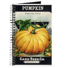 Pumpkin antique seed packet Journal