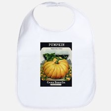 Pumpkin antique seed packet Bib