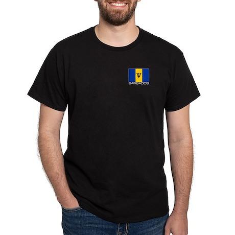 """""""Barbados Flag"""" Black T-Shirt"""