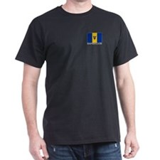 """Barbados Flag"" Black T-Shirt"