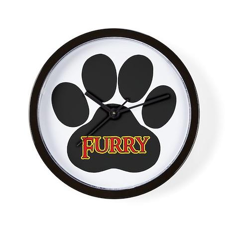 Furry Paw Wall Clock