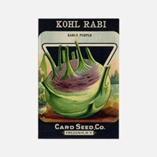 Kohl Rabi antique seed packet Rectangle Magnet