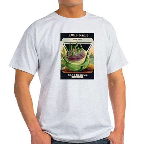 Kohl Rabi antique seed packet Light T-Shirt