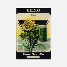 Dill Herbs antique seed packe Rectangle Magnet
