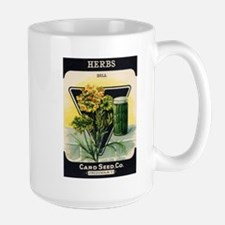 Dill Herbs antique seed packe Large Mug