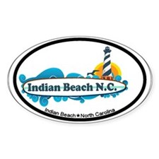Indian Beach NC - Surf Design Decal
