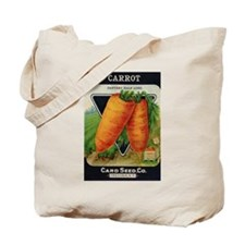 Carrots antique seed packet Tote Bag