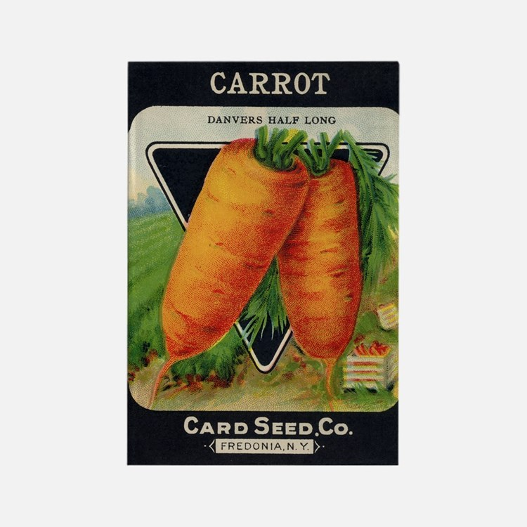 Carrots antique seed packet Rectangle Magnet