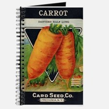 Carrots antique seed packet Journal