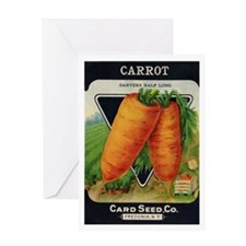 Carrots antique seed packet Greeting Card