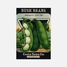 Lima Beans antique seed packe Rectangle Magnet