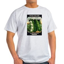 Lima Beans antique seed packe T-Shirt