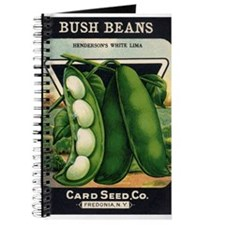 Lima Beans antique seed packe Journal