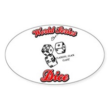 World Series Of Dice Oval Decal