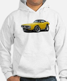 Charger Yellow-Black Car Hoodie