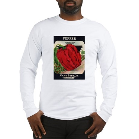 Red Bell Pepper antique seed Long Sleeve T-Shirt
