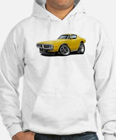 Charger Yellow Car Hoodie