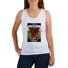 Hot Peppers antique seed pack Women's Tank Top
