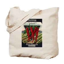 Hot Peppers antique seed pack Tote Bag