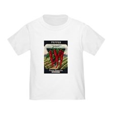 Hot Peppers antique seed pack T