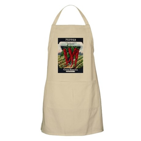 Hot Peppers antique seed pack Apron
