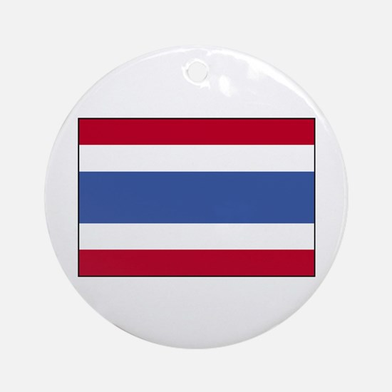 Flag of Thailand 4 Ornament (Round)