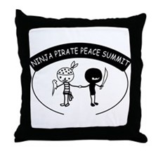 Ninja Pirate Peace Summit Throw Pillow