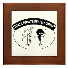 Ninja Pirate Peace Summit Framed Tile
