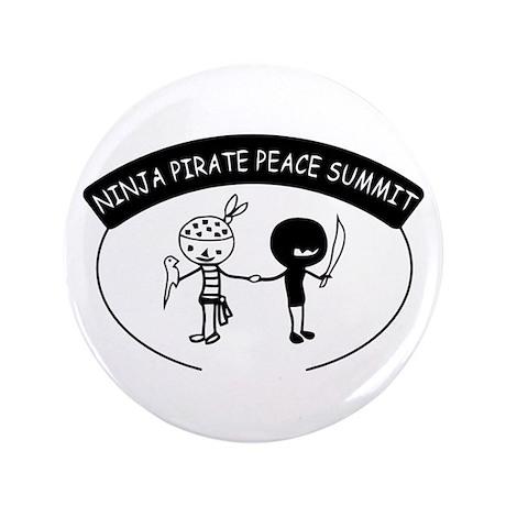 "Ninja Pirate Peace Summit 3.5"" Button"