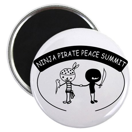 "Ninja Pirate Peace Summit 2.25"" Magnet (10 pack)"