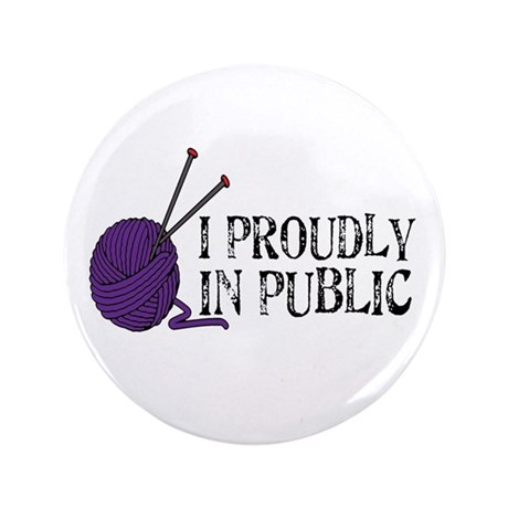 "Public Knitting 3.5"" Button"