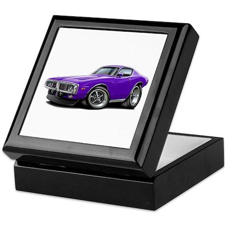Charger Purple Car Keepsake Box
