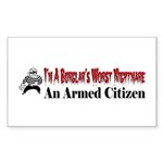Burglar's Worst Nighmare Sticker (Rectangle 10 pk)