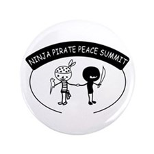 "Ninja Pirate Peace Summit 3.5"" Button"