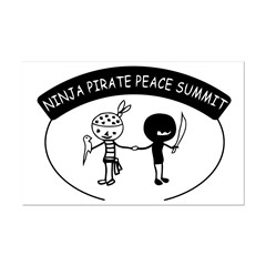 Ninja Pirate Peace Summit Posters