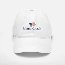 White Mama Grizzly Baseball Baseball Cap
