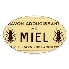 French Honeybee Label Decal