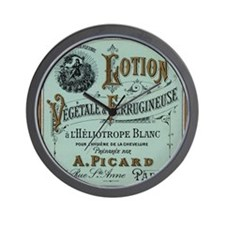 French Cosmetic Label antique Wall Clock