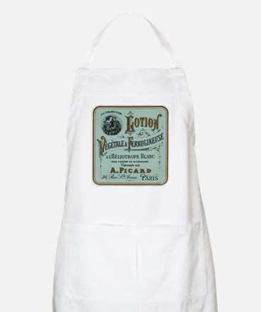 French Cosmetic Label antique Apron