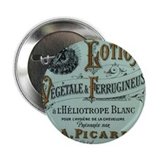 "French Cosmetic Label antique 2.25"" Button"