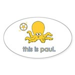 The Octopus Sticker (Oval 10 pk)