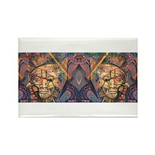 African art Rectangle Magnet