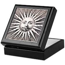 Antique Sun Keepsake Box